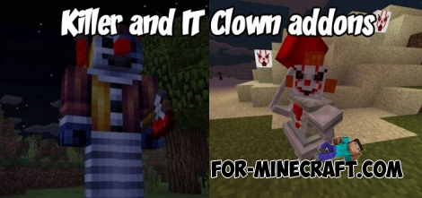 Killer and IT Clown addons for MCPE Bedrock 1.2