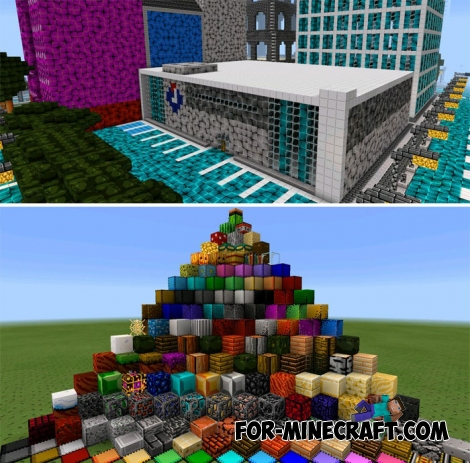 Pixel Texture pack for Minecraft PE Bedrock