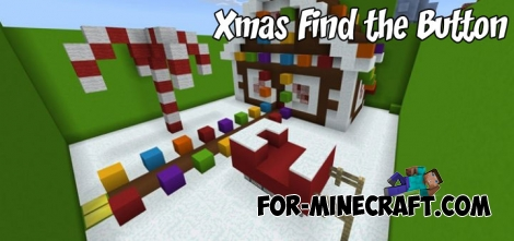 Xmas Find the Button map for Minecraft PE