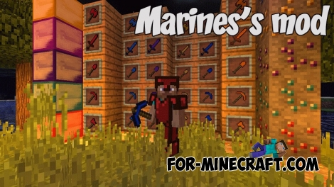 Marines's mod for Minecraft PE Bedrock