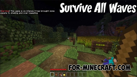 Survive All Waves map for Minecraft PE 1.2+