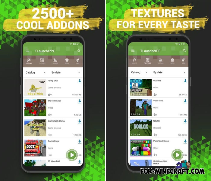 TLauncher PE - mods, maps, textures for MCPE