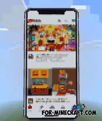Working IPhone X for Minecraft PE 1.2