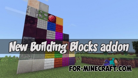 New Building Blocks addon for MCPE 1.2