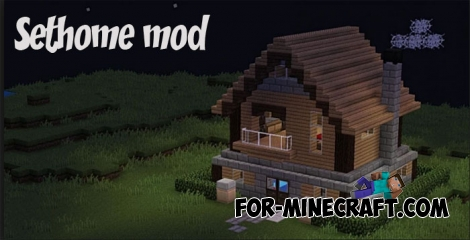 Sethome mod for Minecraft PE 1.2