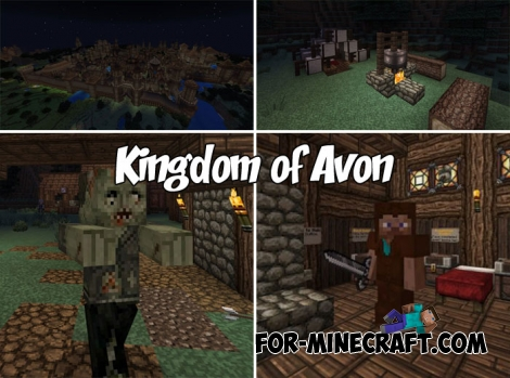 Kingdom of Avon map for Minecraft PE (MCBE)