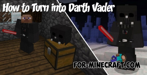 How to Turn into Darth Vader in MCPE 1.2