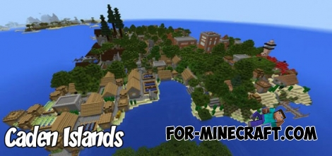 Caden Islands map for Minecraft Bedrock 1.2