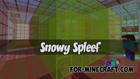 Snowy Spleef map for Minecraft Bedrock 1.2+