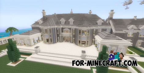 Royal Mansion map for Minecraft PE (MCBE)