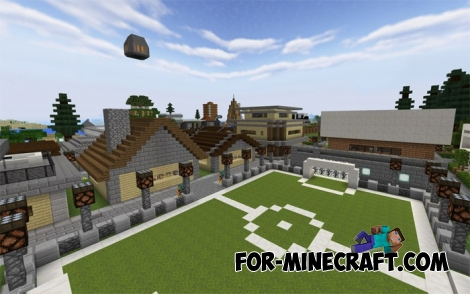 Kurokuma Town map for MCPE 1.2