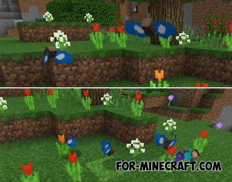 Butterflies addon for MCPE 1.2
