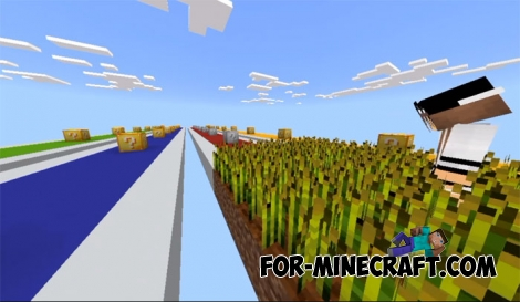 Lucky Block Race map for Minecraft PE 1.2
