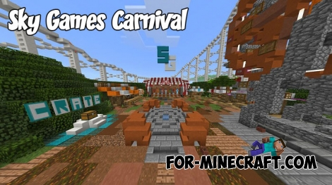 Sky Games Carnival map for Minecraft BE 1.2