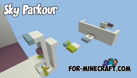 Sky Parkour map for Minecraft 1.2.10