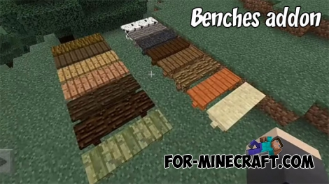 Benches addon for Minecraft BE 1.2