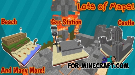 All on Fire map for Minecraft BE 1.2