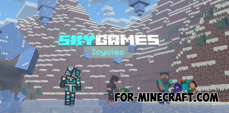 Icicles Parkour map for MCPE 1.2