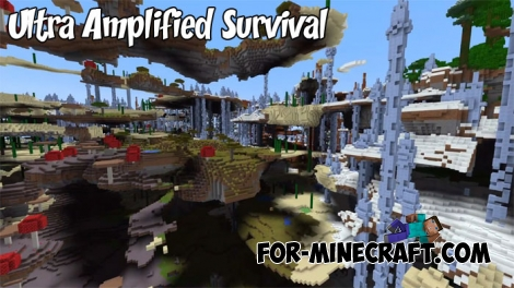 Minecraft PE Ultra Amplified Survival Map