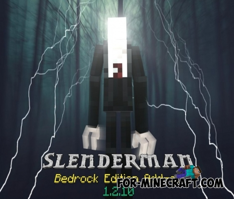 Slenderman addon for Minecraft PE 1.2+