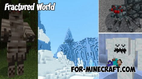 Fractured World (Map+Addon) for MCPE 1.2