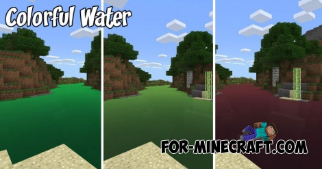 Colorful Water textures for Minecraft BE