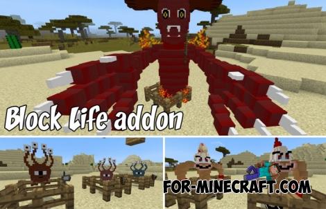 Block Life addon for Minecraft PE 1.2