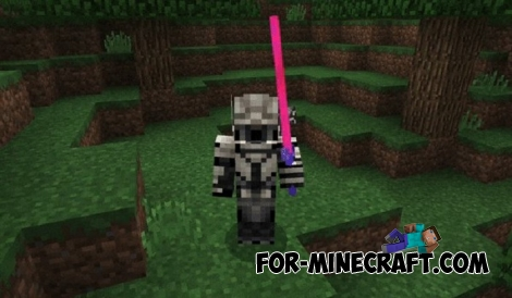 Laser Sword addon for MCPE 1.2.13.10+