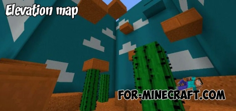 Elevation map for Minecraft BE 1.2+