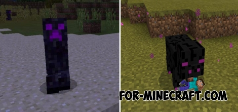 Ender Mobs addon for MCPE 1.1/1.2