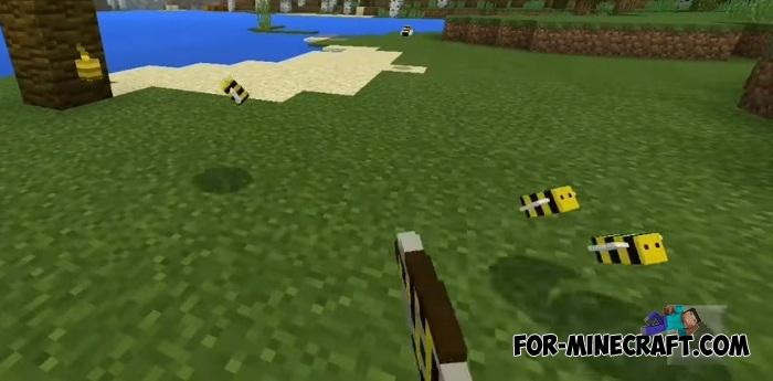 Bee addon for Minecraft Bedrock 1 2