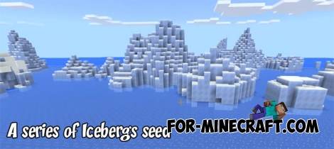 A series of Icebergs seed for MCPE 1.2.14.X