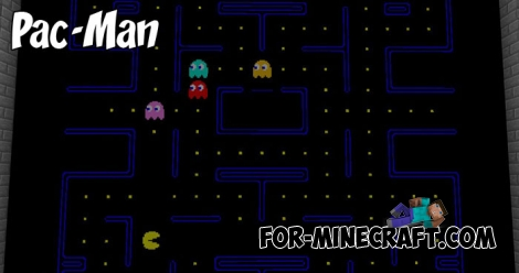 Pac-Man (map+addon) for Minecraft PE 1.2