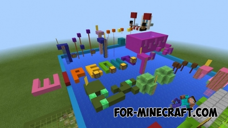 Colored Wipeout map for MCPE 1.2
