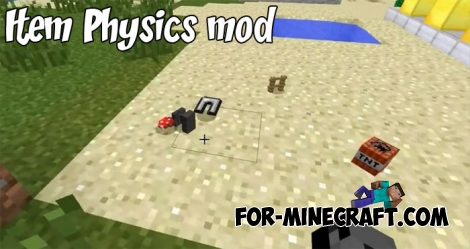 Item Physics mod for Minecraft BE 1.2+