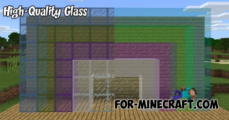 High-Quality Glass textures for MCPE 1.1/1.2