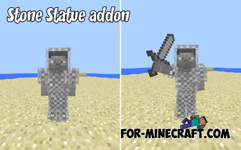 Stone Statue addon for Minecraft BE 1.2