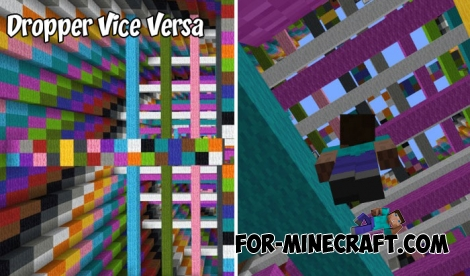 Dropper Vice Versa map for Minecraft 1.2
