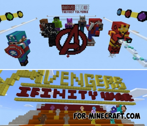 Marvel Superheroes map for MCBE 1.2