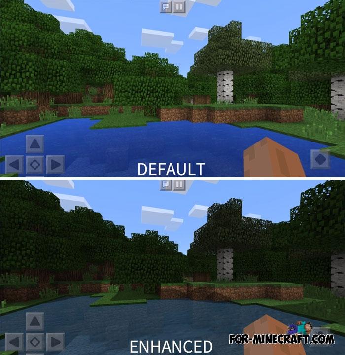 Enhanced shaders v2 0 for Minecraft Bedrock (No Lag)