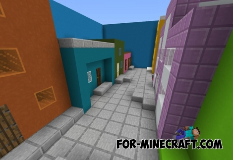 Find The Button in the City map for Minecraft BE