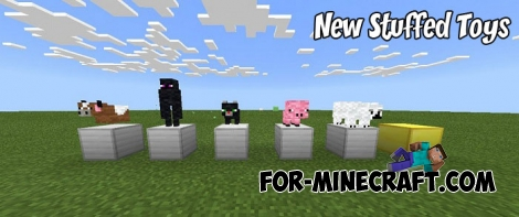 New Stuffed Toys addon for MCPE 1.X
