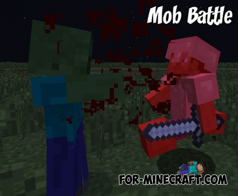 Mob Battle addon v2 for Minecraft Bedrock 1.X