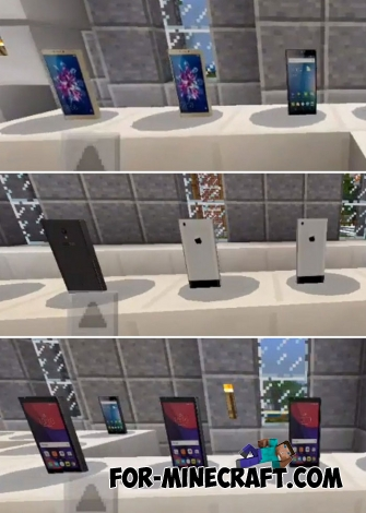 Pocket Smartphones addon for Minecraft Bedrock Edition