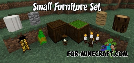 Small Furniture Set addon for Minecraft PE