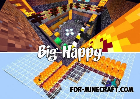 Big Happy map for Minecraft Bedrock 1.4/1.5