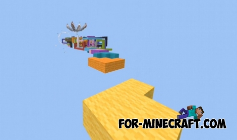 The Runner Parkour Challenges map for MCPE 1.5