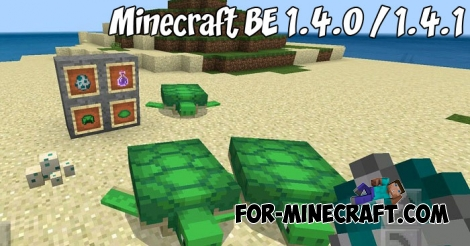 Minecraft BE 1.4.0 / 1.4.1 - Full Changelog