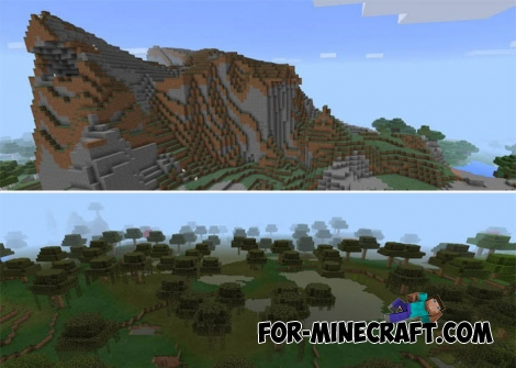 5 Biomes in 1 Seed for Minecraft Bedrock