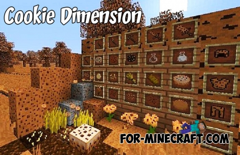 Cookie Dimension mod for Minecraft BE